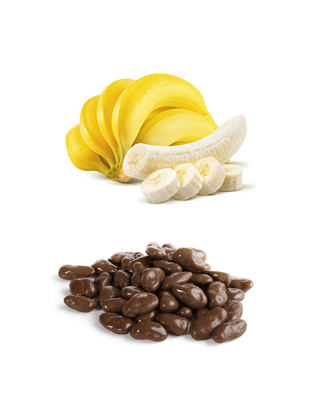 Delicious bananas in Milk Chocolate