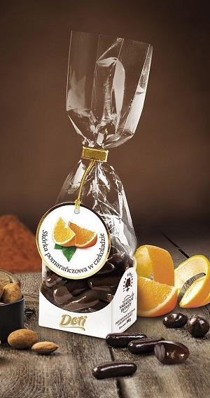 Skórka pomarańczowa w czekoladzie- ozdobna torebka prezentowa DOTI