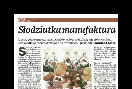 SWEET MANUFACTURER (Słodziutka Manufaktura - Gazeta Wrocławska)
