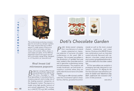 DOTI'S CHOCOLATE GARDEN - SG International