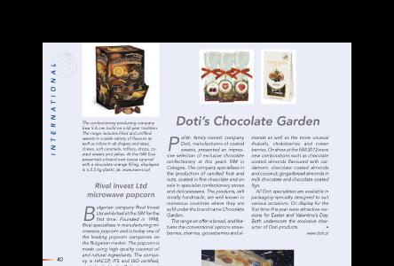 DOTI'S CHOCOLATE GARDEN - SG International