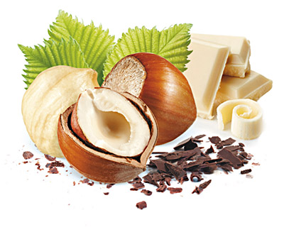 Stracciatella Hasselnüsse  in weisser Schokolade  100g