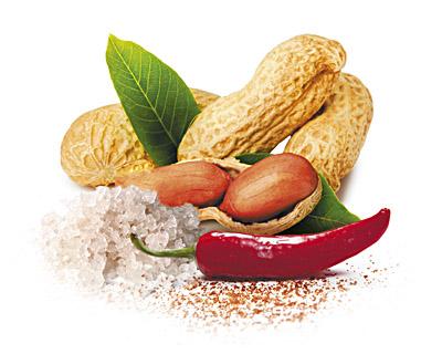 Erdnüsse in Milchschokolade mit Salz und Chili 100g