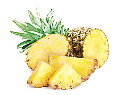 Pineapple in chocolate 100g