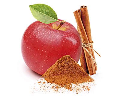 Pomme enrobées de chocolat et saupoudrées de cannelle